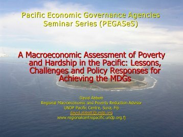A Macroeconomic Assessment of Poverty and Hardship in the Pacific