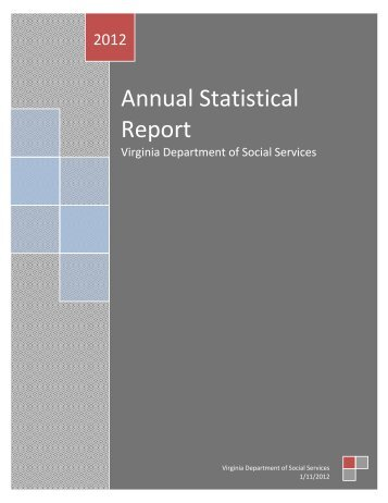 Annual Statistical Report - Virginia Department of Social Services