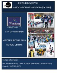 Windsor Park Nordic Centre Proposal - CCSAM