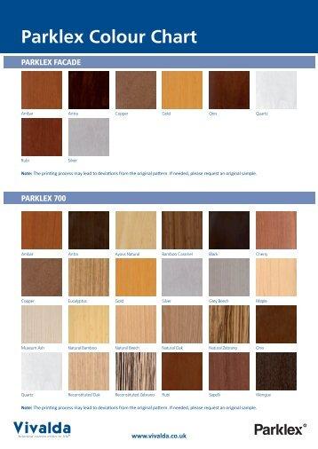 Parklex Colour Chart - Vivalda