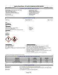 Safety Data Sheet: Z-FLAP ALUMINUM OXIDE WHEEL