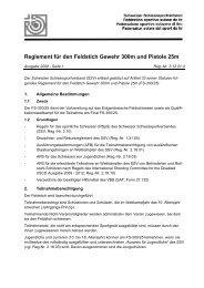 Reglement für den Feldstich - Schweizer Schiesssportverband