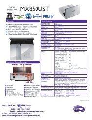 MX850UST - Network Spectrum, Inc.