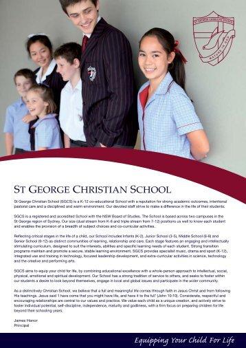 Prospectus - St George Christian School