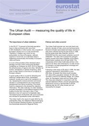 The Urban Audit — measuring the quality of life ... - Eurostat - Europa