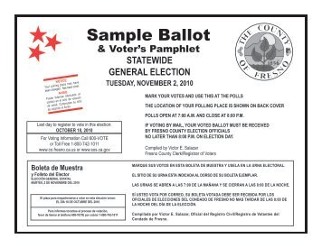 2013 Coordinated Election Sample Ballot - Arapahoe County, CO ...