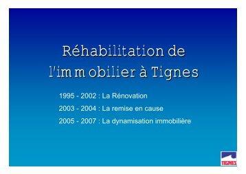 Réhabilitation de l'immobilier à Tignes - Atout France