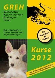 Programm 2012 zum Download - Hundeschule GREH