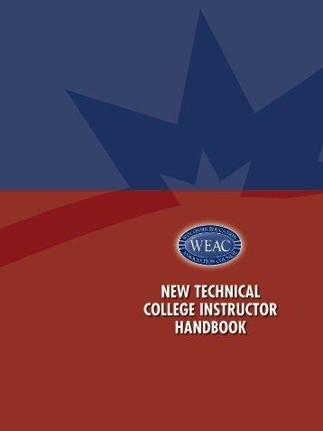 New TechNical college iNsTrucTor haNdbook - Wisconsin ...