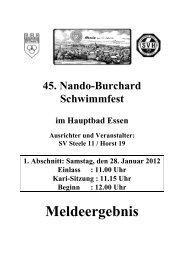 Meldeergebnis für das am 28.01 und 29.01.2012 stattfindende 45. ...