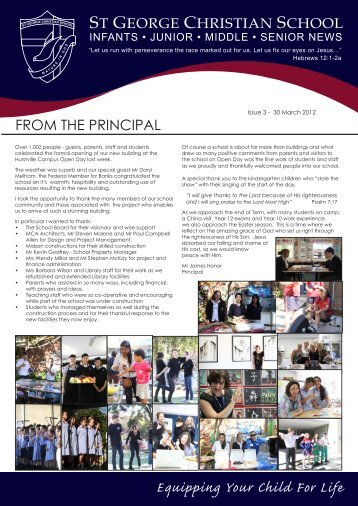 Issue 3 2012.pdf - St George Christian School