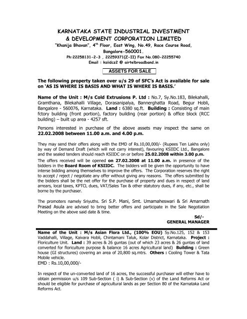karnataka state industrial investment & development