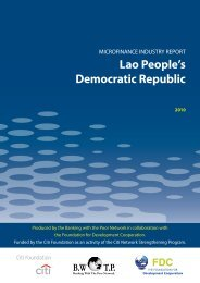 Microfinance Industry Report for Lao People's Democratic Republic ...