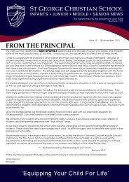 Issue 11 2011.pdf - St George Christian School