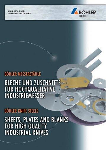 bleche und zuschnitte für hochqualitative industriemesser sheets ...