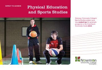 Physical Education and Sports Studies - Newman University College