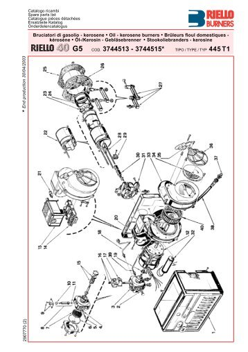 Riello R40 G5 Spare Parts List - Powrmatic