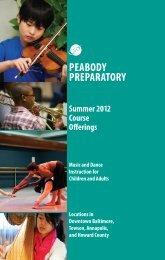 Summer 2012 Catalog - Peabody Institute - Johns Hopkins University
