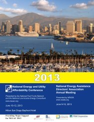2013 Conference Program - National Energy and Utility Affordability ...