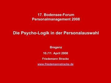 Die Psycho-Logik in der Personalauswahl - Bodensee-Forum ...