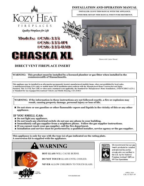 Peachy Chaska Xl Manual Kozy Heat Fireplaces Complete Home Design Collection Barbaintelli Responsecom