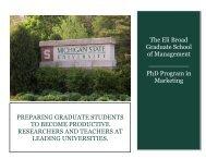 Doctoral program viewbook (PDF) - Department of Marketing