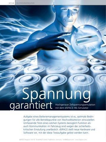 garantiert Hochgenaue Zellspannungsemulation mit dem dSPACE ...