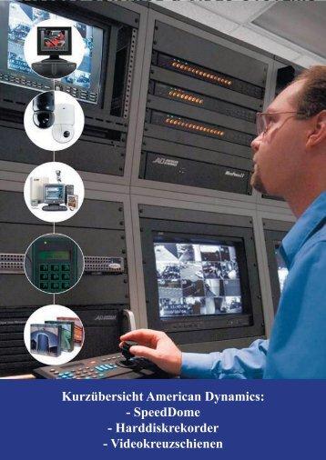 Kurzübersicht American Dynamics: - SpeedDome ... - IP CCTV GmbH