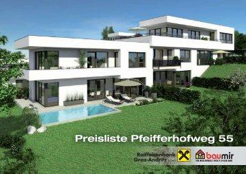 Preisliste Pfeifferhofweg 55 - Pichlerbaumir