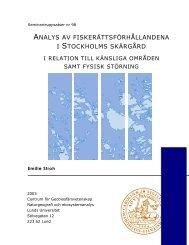 analys av fiskerättsförhållandena i stockholms ... - Lunds universitet