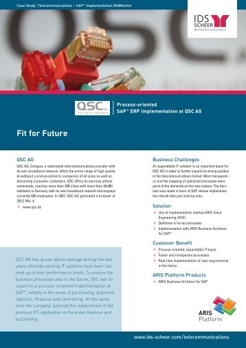 Fit for Future - IDS  Scheer AG