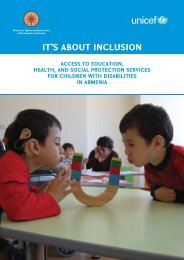 """It's About Inclusion"" Report - United Nations in Armenia"