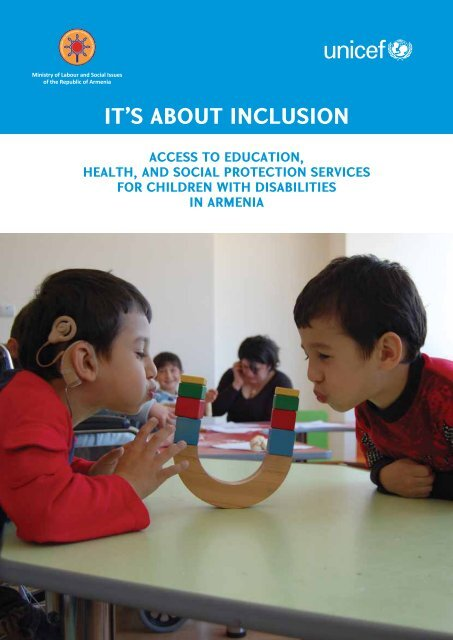 """""""It's About Inclusion"""" Report - United Nations in Armenia"""