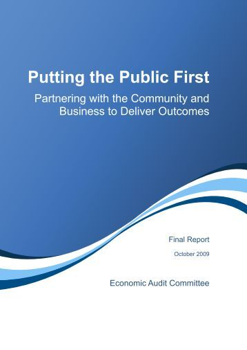 Putting the Public First - Final Report October 2009, - Department of ...