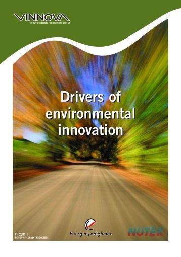 Drivers of environmental innovation - Vinnova