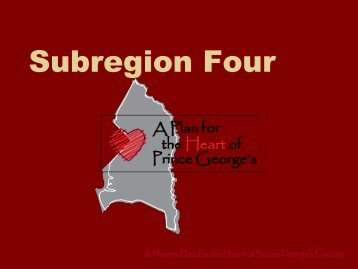 Subregion Four - Prince George's County Planning Department