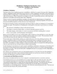 Mindfulness Meditation Introductory class - Coastside Vipassana