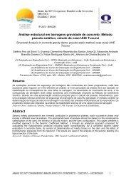 Análise estrutural em barragens gravidade de ... - Artigo Científico