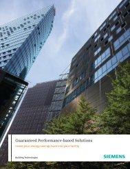 Guaranteed Performance-based Solutions - Siemens Industry, Inc.