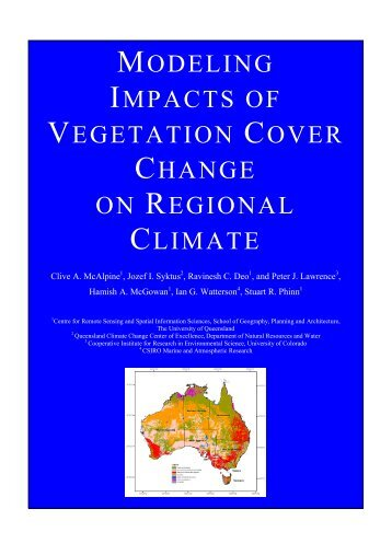 modeling impacts of vegetation cover change on regional climate
