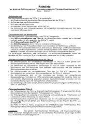 Richtlinie - Thüringer Karateverband e.V.