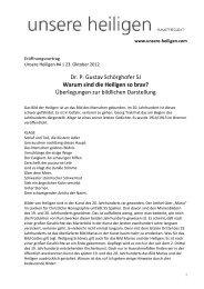 Warum sind die Heiligen so brav? - Gustav Schörghofer (pdf)