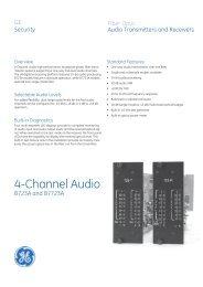 Data Sheet -- 4-Channel Audio - Interlogix