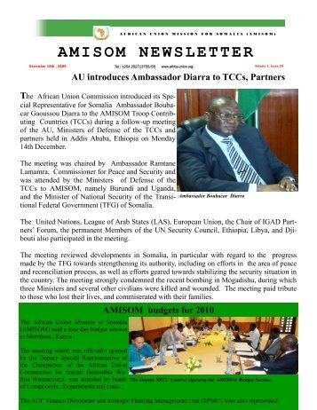 AMISOM NEWSLETTER - African Union