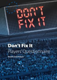Don't Fix It - Players Questionnaire Results and Analysis