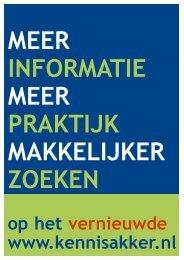 op het vernieuwde www.kennisakker.nl - Productschap Akkerbouw