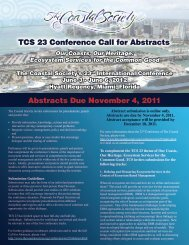 TCS 23 Conference Call for Abstracts Abstracts Due November 4 ...