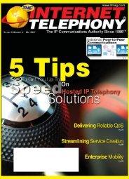 Internet Telephony Magazine Digital issue May 2007 - TMC's Digital ...