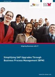 ARIS Expert Paper - SAP Upgrade - IDS Scheer AG