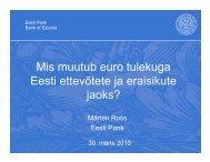 Mis muutub euro tulekuga Eesti ettevõtete ja ... - euro.eesti.ee
